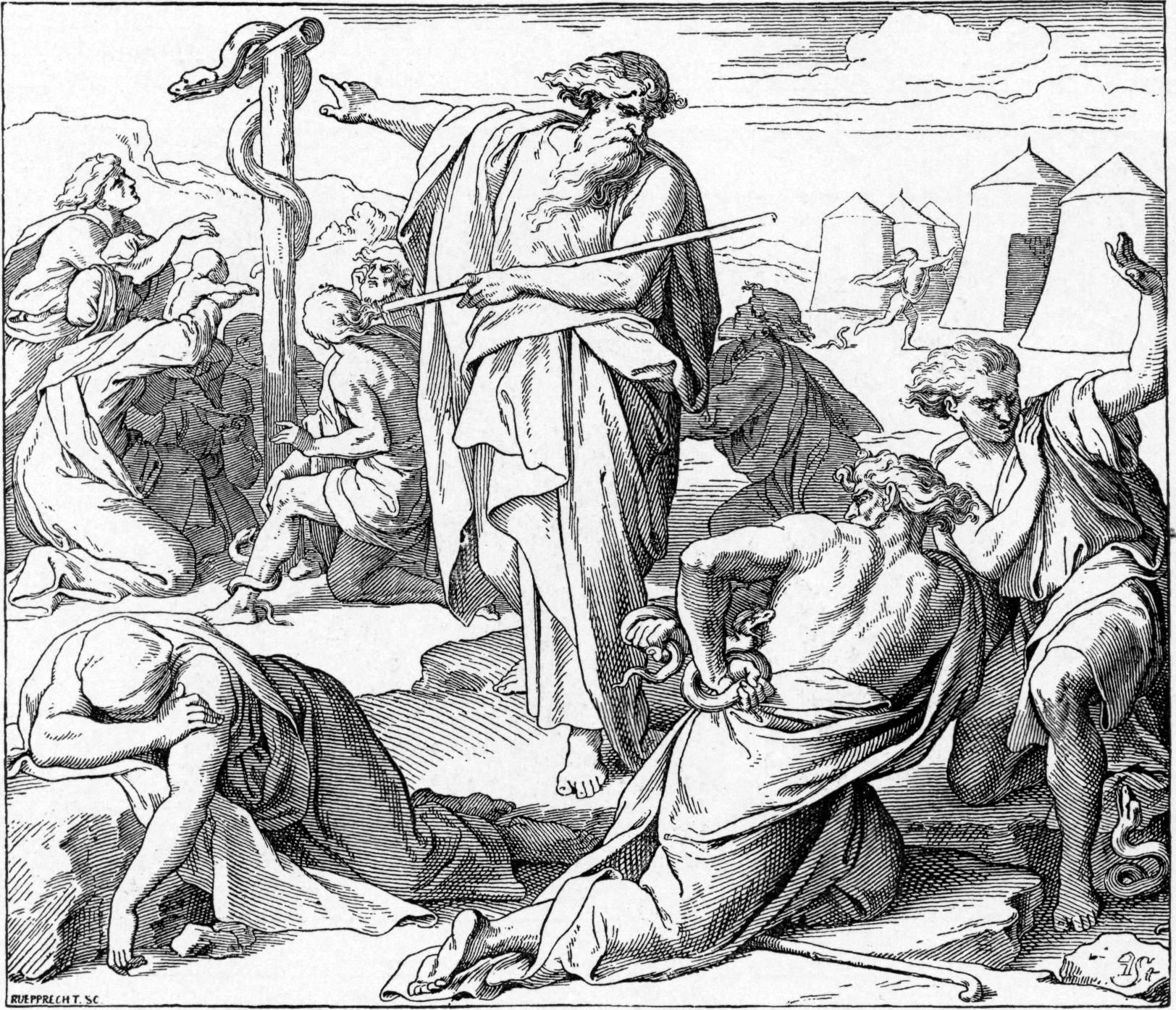 Foster_Bible_Pictures_0079-1_Moses_Pointing_to_a_Great_Snake